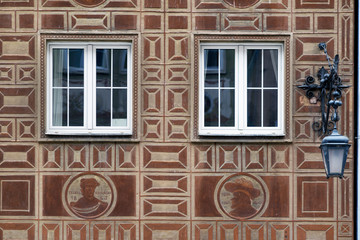 Wall Mural - Stone bas-reliefs on the walls of Gdansk