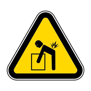 Lifting Hazard Symbol Sign Isolate On White Background,Vector Illustration EPS.10