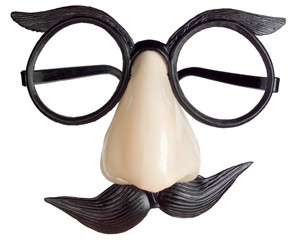 A pic of a plastic Groucho mask, glasses, nose and moustache