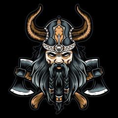 viking vector with axe
