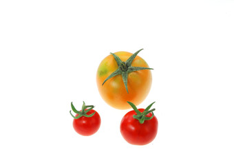 Wall Mural - grape tomato isolated on white background