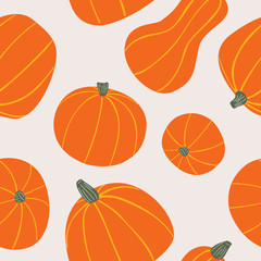 Lamas personalizadas para cocina con tu foto Food hand drawn vector seamless pattern. Stylized orange pumpkins. Cartoon Vegetables for wrapping paper, textile, background design for Halloween