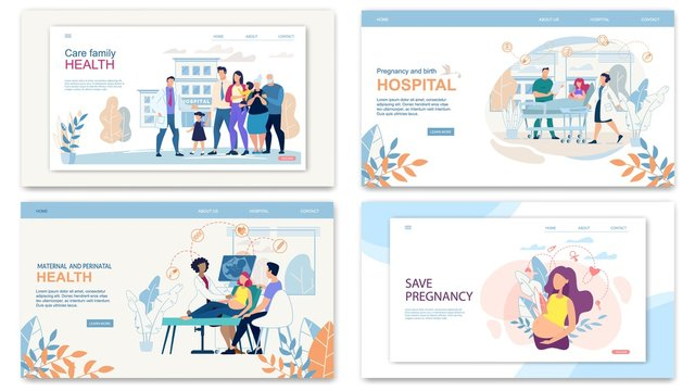 Set Website Collage Care Family Health, Pregnancy.
