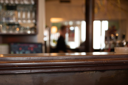 Details of a bar in a coffee house