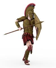 Spartanischer Krieger aus dem antiken Griechenland