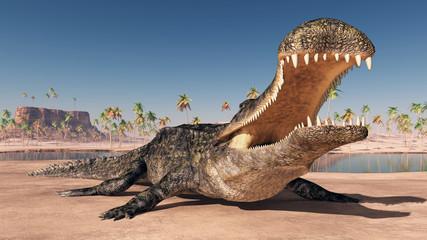 Prähistorisches Krokodil Sarcosuchus