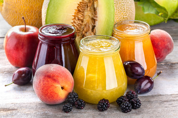 Freshly squeezed refreshing smoothies from healthy organic fruits