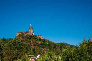 view of Reichsburg Cochem, Burg Cochem