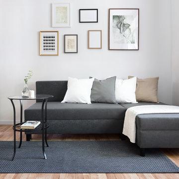 Contemporary living room with sofa