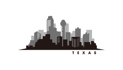 Wall Mural - Austin Texas skyline and landmarks silhouette vector