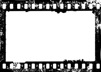 Wall Mural - frame of camera film, grungy photo frame,with free copy space,vector illustration
