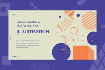 Vector illustration Landing page template