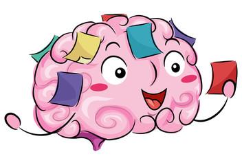 Brain Mascot Reminders Illustration Wall mural