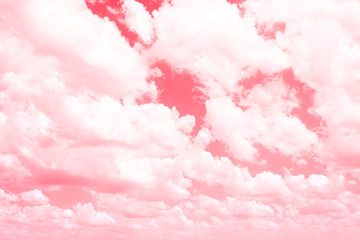 Pink sky with light and beautiful clouds, wallpaper, background.