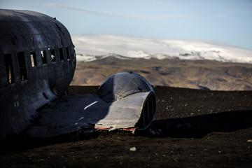 Carcasse d'avion en Islande