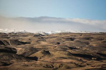 Vue aérienne relief islandais