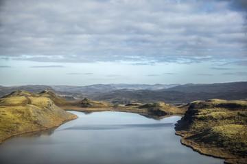Lac Volcanique vue aérienne