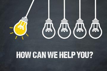 Obraz How can we help you? - fototapety do salonu