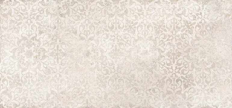 Beige cement damask pattern background