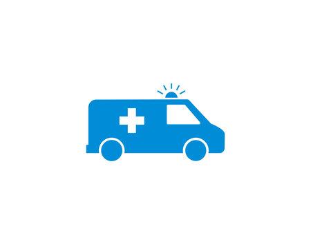Ambulance Flat icon Symbol vector