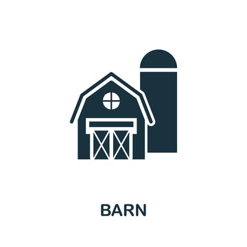 Barn vector icon symbol. Creative sign from farm icons collection. Filled flat Barn icon for computer and mobile