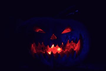 pumpkin on Halloween fear horror Wall mural