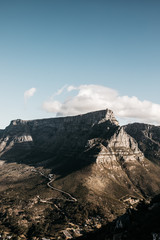 View of Table Mountain against cloudy sky