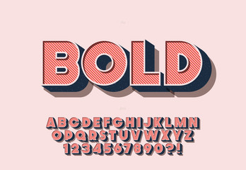Vector bold font colorful style Wall mural