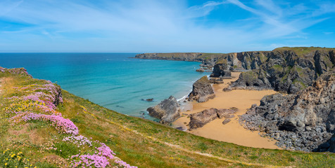 Bedruthan steps north coast cornwall