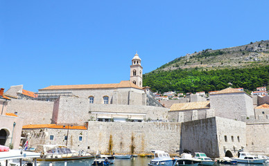 Old Town Medieval City Wall. Dubrovnik, Croatia