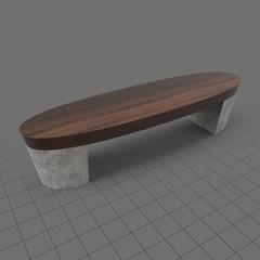Oval city bench