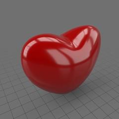 Heart shaped balloon