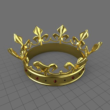 Gold crown with gemstones 1