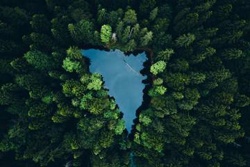 Shaped lake