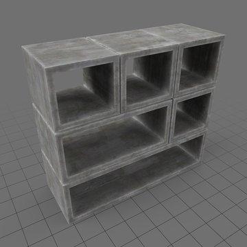 Concrete bookshelf