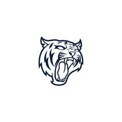 Tiger Head Line Art Logo