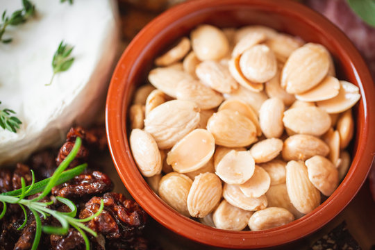 Marcona Spanish Almond Nuts in Bowl