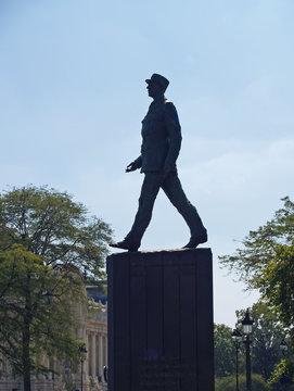 PARIS, FRANCE - SEPTEMBER 08, 2007: Monument to Charles de Gaulle