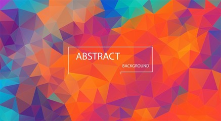 Concept color geometric background. Retro color abstract.