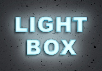 Light Box Text Effect Mockup