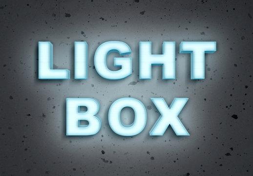 Light Box Text Effect Mockup