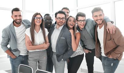 Fototapeta portrait of a professional business team standing in a modern office