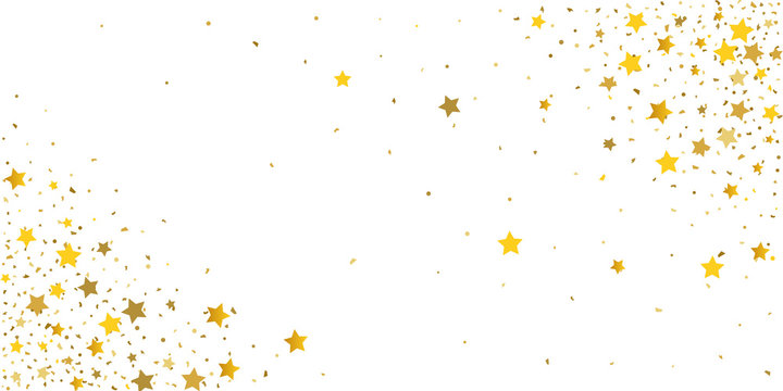 Gold glitter star.