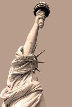 Statue of Liberty, in New York City, NY. The statue of Liberty was a gift from people of France to the United States in 1886.