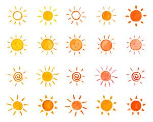 太陽 お日様 イラストセット