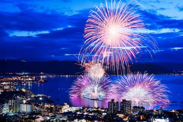 【長野県】諏訪湖の花火