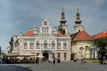 Timișoara Piața Unirii Serbisches Bischofsheim und Serbisch Orthodoxe Kathedrale