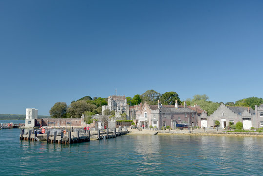 Ferry dock for Brownsea Island on Poole harbour, Dorset