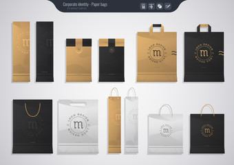 Set of paper bags - Corporate identity templates business style