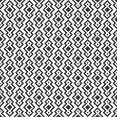Abstract seamless pattern. Repeating ethnic ornament with rhombuses.